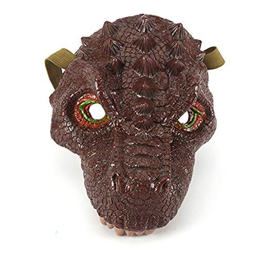 Hemistin Plastic Dinosaur Make Children Party Dinosaur Mask 3 Models Optional Injection Moulded