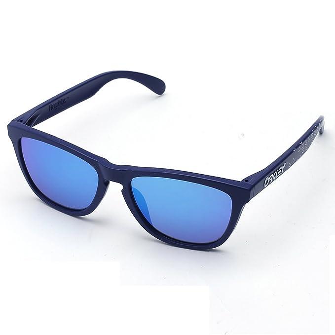 Oakley - Gafas de sol para hombre Frogskins Iridium Wayfarer, no polarizadas Azul azul 54