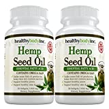Omega 3 Premium Hemp Seed Oil Nutritional Supplement By Healthy Body Inc. - Omega 3 - 6 - 9 Polyunsaturated Fatty Acid Dietary Supplement - All Natural Formula (2 bottles)