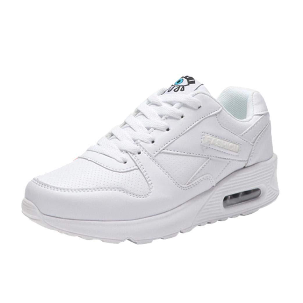 TALLA 40 EU. Zapatillas Calzado Aire Libre y Deportes Plataforma para Mujer con Cordones, QinMM Zapatos Gym Running Verano Primavera otoño