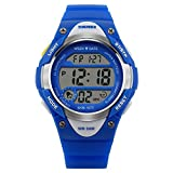 Boys and Girls Digital Watch Kids Sport Waterproof Outdoor Watches with Alarm, Stopwatch Children LED Electronic Wristwatch (Blue)