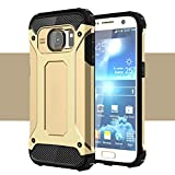 Onway Armor Hybrid Superior Hard PC And Pliable Rubber Drop Resistance Defend Case For Samsung Galaxy S7 Edge 5.5 Inth Gold