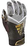 adidas Adizero 8.0 REDACTED Football Receiver's Gloves White/Black Small