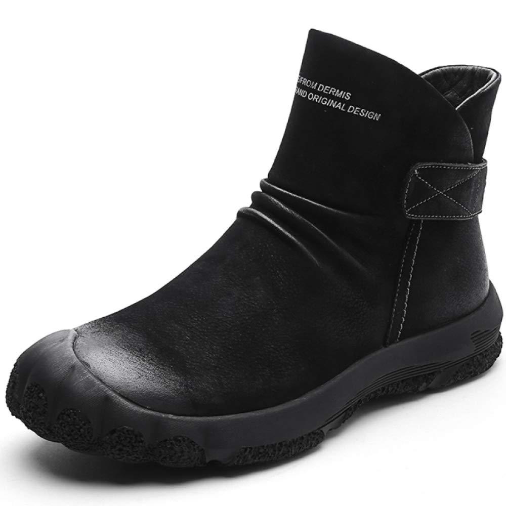 Stiefel Herren Warme Leder Rutschfest Stiefel Wasserdicht Freizeit Trekking Größe:38-45