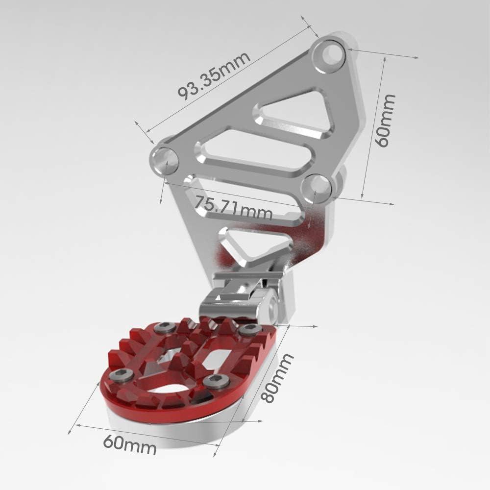 X-ADV Moto Pedales Ajustable Trasera Sets para Honda X ADV XADV 2017 2018 Plegable Reposapi/és Trasero
