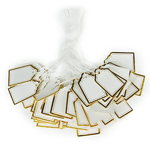 500pcs Rectangular Label Tie String Strung Jewelry Watch Display Price Tags
