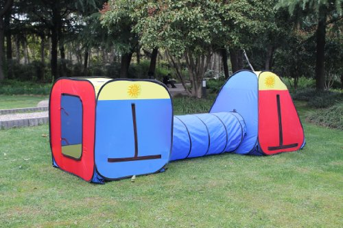 Kids Play Tent, Play Ground, Room, Child Tunnel New Play Hut. Inside – Outside. One Year Warranty.
