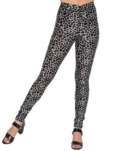 American Apparel Printed Disco Pant - Black White Giraffe / XXS