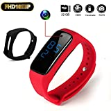 Hidden Camera LTMADE HD 1080P 32G Buckle Bracelet Sport Camera Rechargeable Protable Wristband Surveillance Camcorder Spy Camera With Vibrate Function