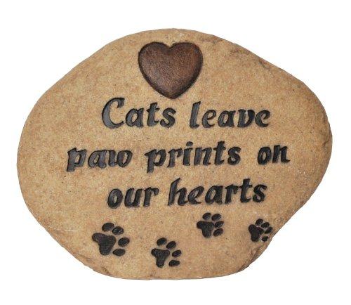 Vivid Arts Leaves Paw Prints Gedenkstein für Katzen