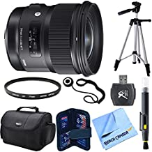 """Sigma 24mm F/1.4 DG HSM Wide Angle Lens (Art) for Canon DSLR Camera Mount includes Bonus Xit 60"""" Photo / Video Tripod and More"""