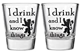I Drink And I Know Things Shot Glass - Game of Thrones Parody Shotglasses (2)