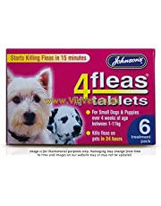 4Fleas Tablets for Dogs - Small Dogs & Puppies (1-11kg) - pack of 6
