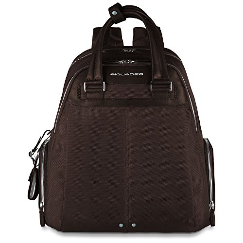 Piquadro Backpack with Computer iPad Air and Compartment Umbrella Holder, Dark Brown, One Size by Piquadro