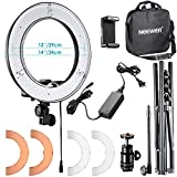 """Neewer RL-12 LED Ring Light 14"""" outer/12 on Center with Light Stand, Soft Tube, Filter, Bluetooth Receiver for Makeup, Camera/Phone Video Shooting"""