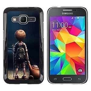TopCaseStore / la caja del caucho duro de la cubierta de protección de la piel - Mom Mother Cute Kid Son Night - Samsung Galaxy Core Prime SM-G360