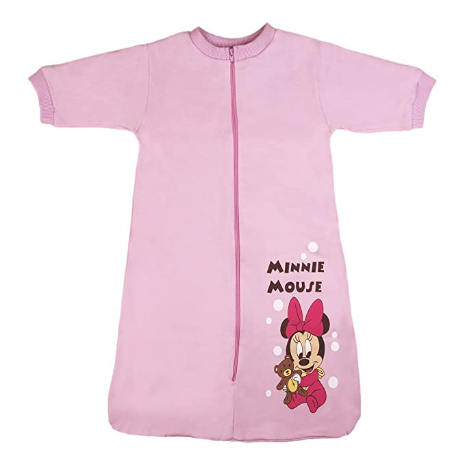 98 74 86 Color Rosa y Blanco Disney Baby con Cuello Talla 56 68 80 92 62 Body de Manga Larga para ni/ña Minnie Mouse