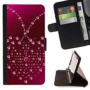 DEVIL CASE - FOR HTC DESIRE 816 - Love Heart Drops - Style PU Leather Case Wallet Flip Stand Flap Closure Cover