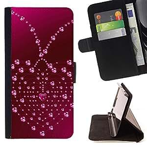 - Love Heart Drops - - Monedero PU titular de la tarjeta de cr????dito de cuero cubierta de la caja de la bolsa FOR Samsung Galaxy S5 V SM-G900 RetroCandy