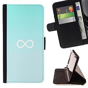 BullDog Case - FOR/Samsung Galaxy S4 Mini i9190 / - / infinity mathematics blue minimalist /- Monedero de cuero de la PU Llevar cubierta de la caja con el ID Credit Card Slots Flip funda de cuer