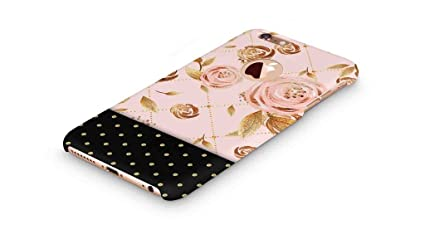 check out 3f181 b63e6 Cover Affair Floral Polka Dots Printed Designer Slim Light Weight Round  Logo Back Cover Case Compatible with Apple iPhone 6 (Pink & Gold & Black)  ...