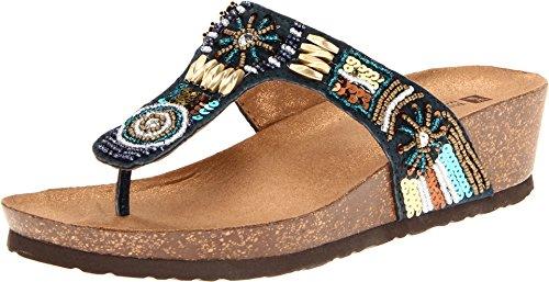 White Mountain Women's, Brilliant Thong Sandal Navy 9 M (Mountain Women Shoes White)