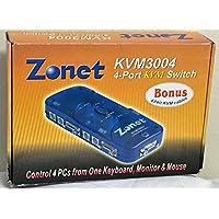 Zonet KVM3004 4-Port Switch ( KVM3004 )