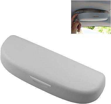 Lfotpp C Hr Auto Sonnenbrillenhalter Chr Brillenetui Auto Innenraum Auto Zubehör Grau Auto