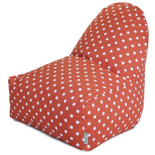Majestic Home Goods Kick-It Chair, Ikat Dot, Orange