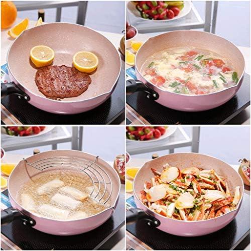 DYXYH Stock Pot, wok antiadhésif, professionnel induction ceinture de sécurité en acier inoxydable Stock Pot, Pot Miroir d'acier inoxydable Couvercle