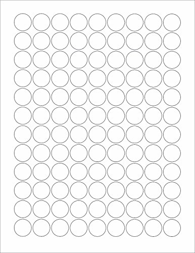 (6 SHEETS) 648 3/4 INCH ROUND CIRCLE MATTE WHITE STICKERS FOR LASER & INKJET PRINTERS , BLANK - SIZE: 8-1/2