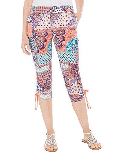 (Chico's Women's Cool Cotton Patched Capris Size 10 M (1.5))