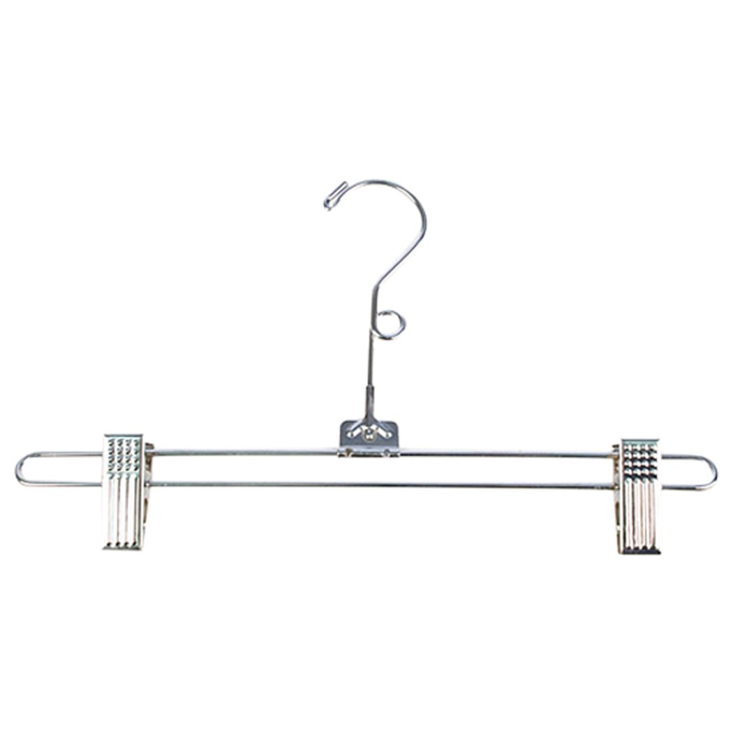 KC Store Fixtures A19101 Salesman Skirt Hanger, 12'' with Loop, Chrome (Pack of 100)