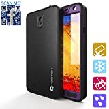 Ghostek Atomic Samsung Galaxy Note 3 Purple Waterproof W/ Attached Screen Protector - Lifetime Warranty - Slim Fitted Waterproof Shock proof Dust proof Dirt proof Snow proof Hard Shell Case Cover for Galaxy Note III N900 N9000 N9002 N9005 N9009 GHOCAS82