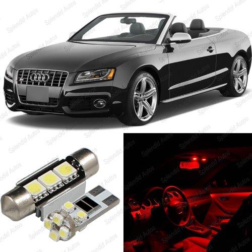 Price comparison product image Splendid Autos Brilliant Red LED Audi A5 / S5 8F7 Interior Package Deal 2009 - 2012 (4 Pieces)