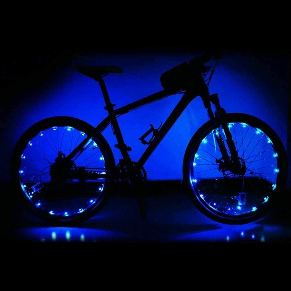 1x LED Bicycle Bike Cycling Rim Wheel Lights Open Close Wheel Spoke Light String