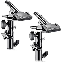 Neewer 2 PCS Photo Studio Heavy Duty Metal Clamp Holder with 5/8 Light Stand Attachment for Reflector