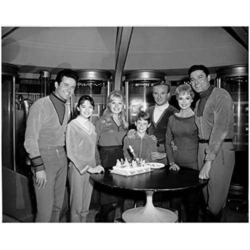 Lost in Space (1965) 8 x 10 Photo B&W Pic Cast Gathered Around Small Table kn