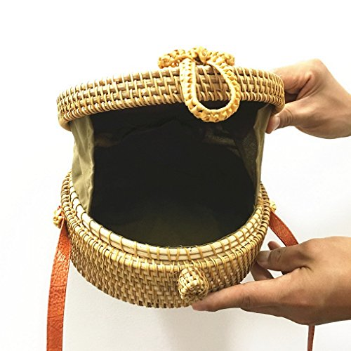 Summer Shoulder Rattan Bag Woven Bag ACMEDE Crossbody Color Kachi Bag Beach Women Sunflower B8qFR1