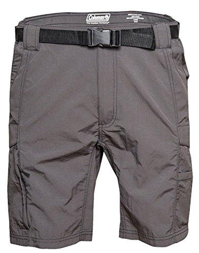 Coleman Mens Outdoor Hiking Nylon Cargo Shorts (X-Large, Raven)