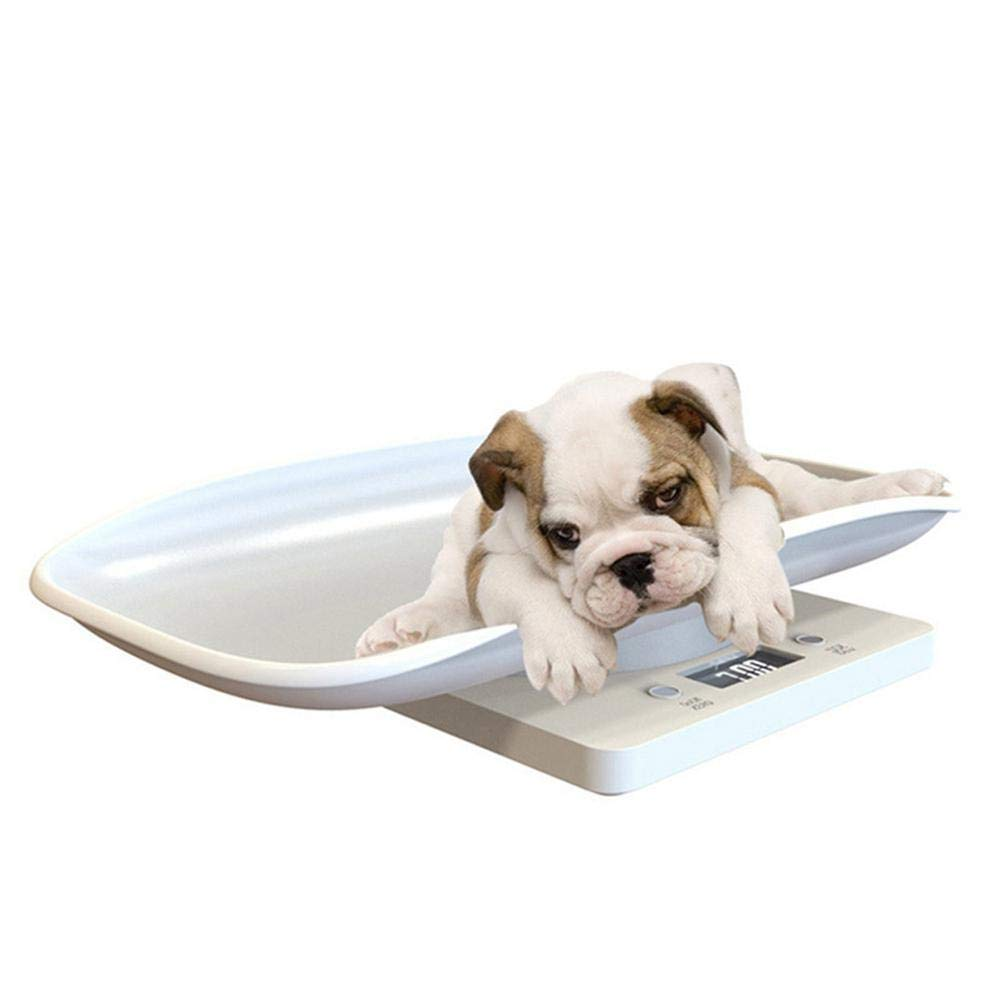 Volwco Digital Pet Scale Small Dog And Cat Weight Accurately Large LCD Display Electronic Scales Weight 10kg Capacity With Comfortable Curving Platform For Measure Baby