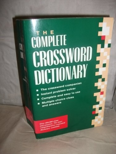 Complete Crossword Dictionary (Crossword) URSULA HARRINGMAN 9781840560343 Amazon.com Books : the crossword dictionary - 25forcollege.com