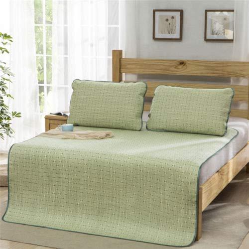FidgetFidget Sleeping Pad Mattress Topper & Pillow Shams Set Foldable Rattan Cooling Summer