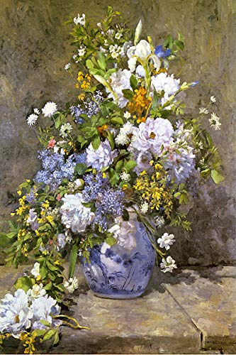Renoir Spring Bouquet - American Gift Services - Artist Pierre Auguste Renoir Poster Print of Painting Spring Bouquet - 18x24