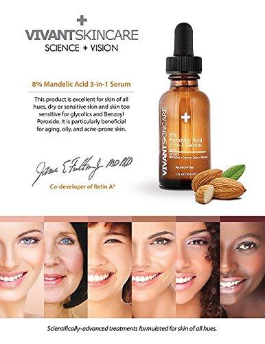 Vivant Skin Care 8% Mandelic Acid 3-in-1 Serum, 1 Ounce