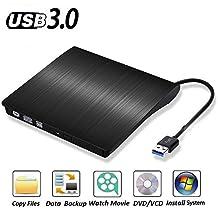 External DVD CD Burner Portable CD/DVD-RW Reader Writer Drive Player for Apple Mac, Mac Pro, Mac Air and Other Laptops, Desktops,Windows 8.1/10 Compatible