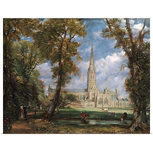 GREATBIGCANVAS Poster Print Entitled Salisbury Cathedral from The Bishop's Grounds by John Constable 24