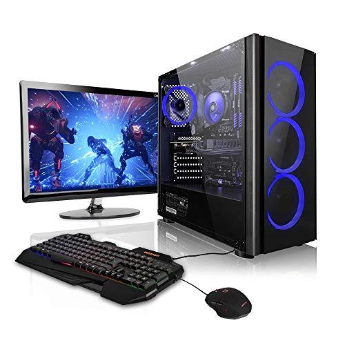 Megaport Gaming PC Bundle Desktop • AMD Ryzen 3 3200G • Nvidia GeForce GTX1050Ti • 22' Full HD LED Asus • Keyboard/Mouse • 8GB RAM • 1TB HDD • Windows10 Gamer PC Gaming Computer Desktop PC bundle