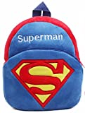 Richy Toys Superman Cute Kids Plush Backpack Cartoon Toy Children's Gifts Boy/Girl/Baby/Student Bags Decor School Bag For Kids