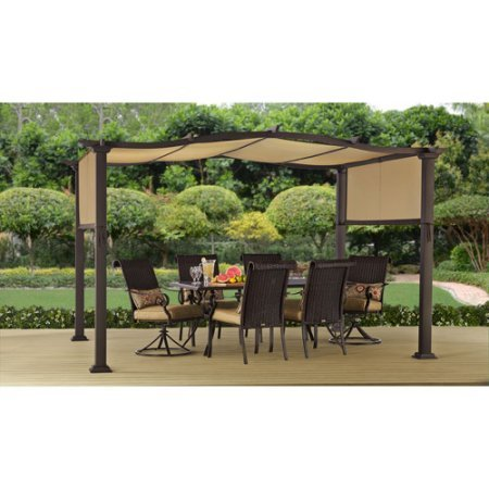 Better Homes and Gardens Emerald Coast 12' x 10' Steel Pergola - Amazon.com: Pergolas - Canopies, Gazebos & Pergolas: Patio, Lawn